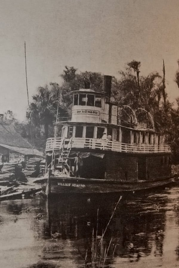 Paddle Wheel Steam Boat On The Silver River