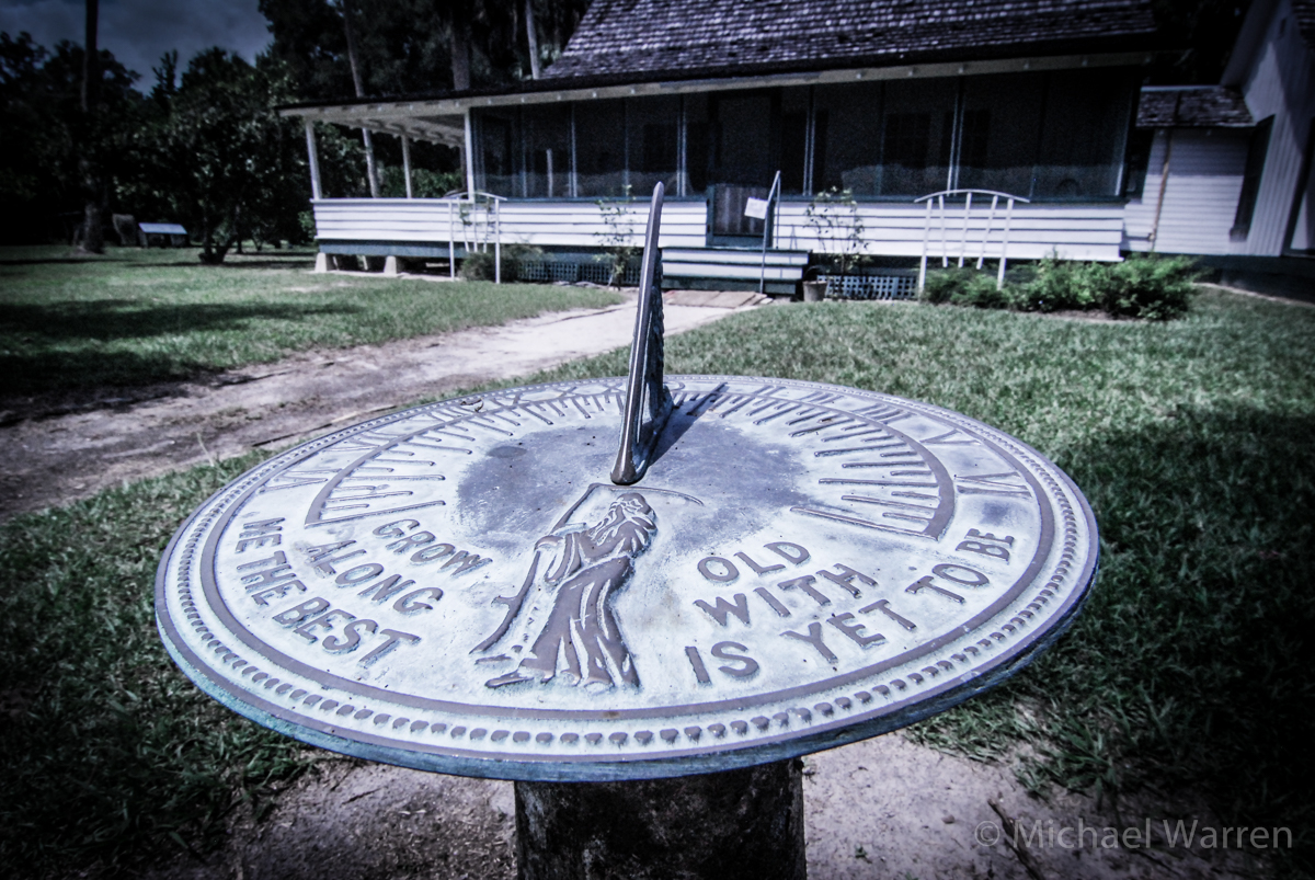 Sundial at  Marjorie Rawlings State Park